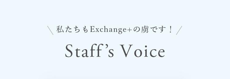 私たちもExchange+の虜です!StaffsVoice